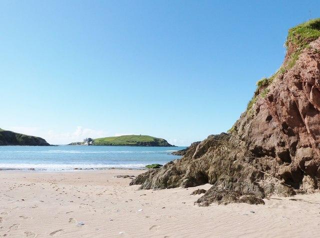 Burgh Island from Challaborough Bay, Devon