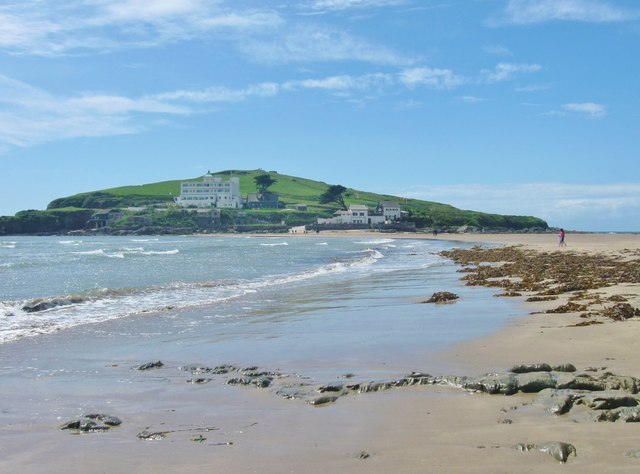 Burgh Island and its famous hotel, Bigbury-on-Sea , Devon