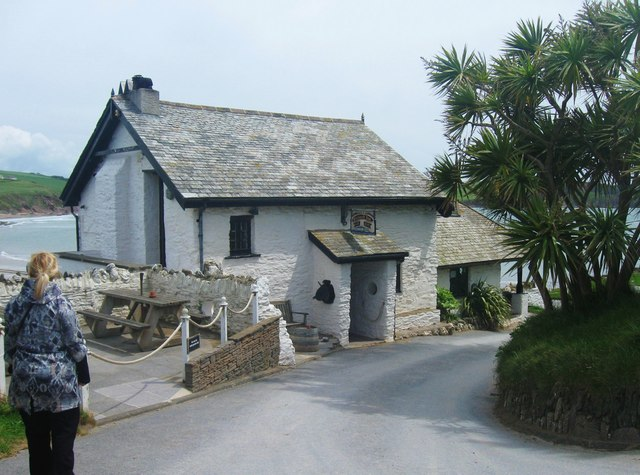 The Pilchard Inn on Burgh Island, Bigbury, Devon