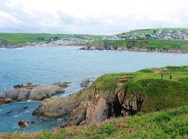 Challaborough Bay, from Burgh Island, Devon