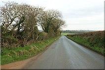 SX0777 : Road to the B3266 by Derek Harper