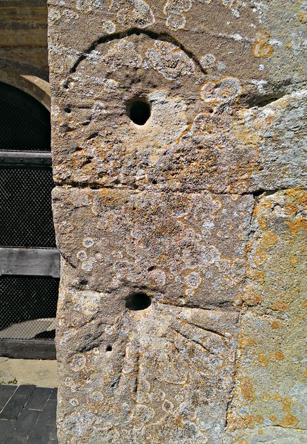 Mass dials, Church of St George, Kelmscott, Oxfordshire
