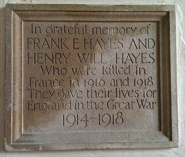 War memorial, Church of St George, Kelmscott, Oxfordshire