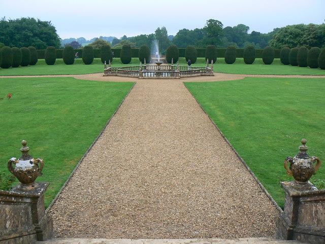 Formal garden and fountain, Montacute, Somerset