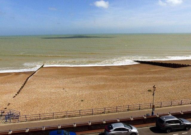 Groynes on Eastbourne sea  front
