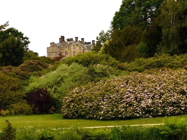 New Scotney Castle viewed from the original Scotney Castle