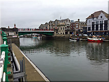 SY6778 : Town Bridge, Weymouth by John Allan