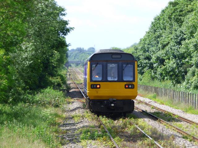 Train leaving Newton Aycliffe station