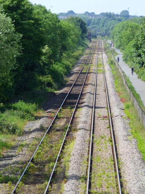 Tracks near Newton Aycliffe railway station