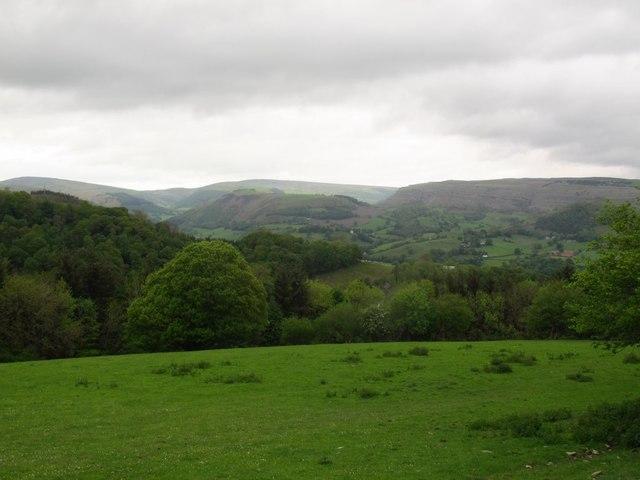 View north-west from Allt y Badi