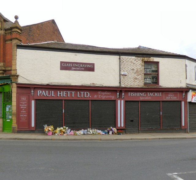 Paul Hett trophies and fishing tackle