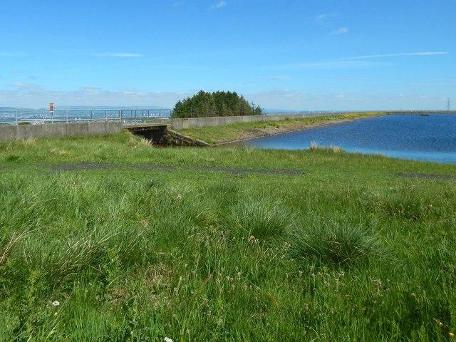 Glenburn Reservoir: spillway
