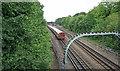 TQ4488 : London Underground Central Line train heading towards Newbury Park by Phil Gaskin