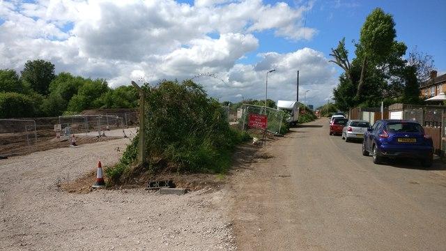 Building work next to the Old Saffron Lane