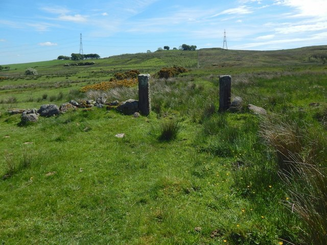 Old gateposts and boundary