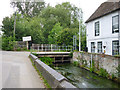 TQ0277 : Mill stream and bridge, Colnbrook Mill by Robin Webster