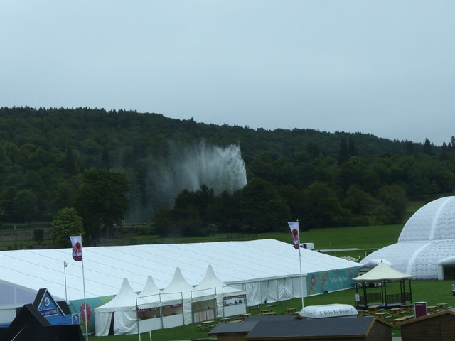 Preparations for the Chatsworth Flower Show