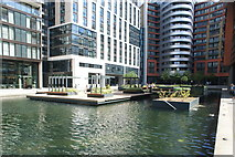 TQ2681 : View of Floating Pocket Park from the Paddington Basin by Robert Lamb