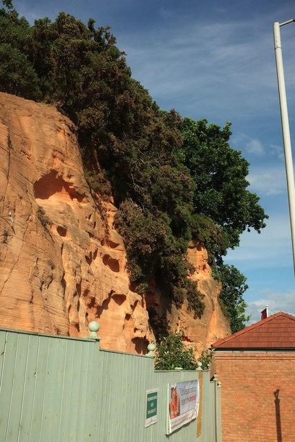Sandstone cliff by Bishop's Way