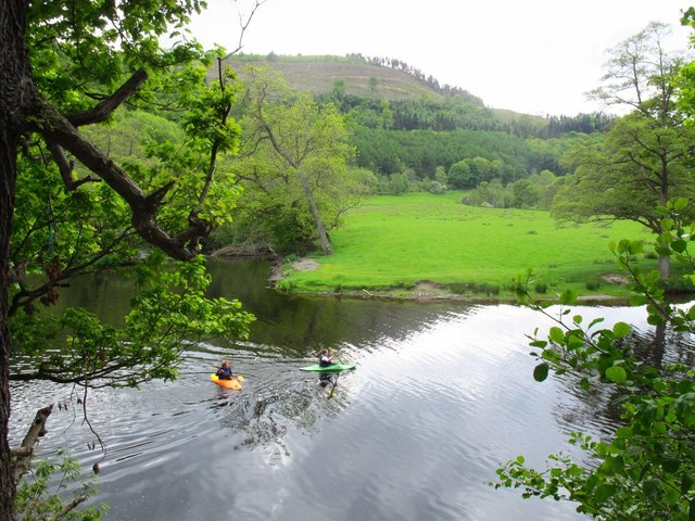 Kayakers on the River Dee