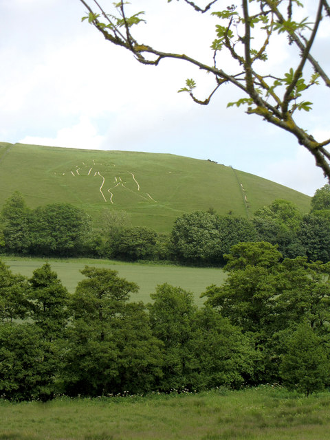 View to the Cerne Abbas giant