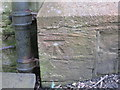NZ1537 : Ordnance Survey Cut Mark by Peter Wood