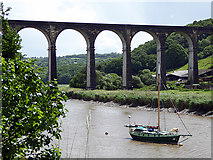 SX4368 : Calstock Viaduct across the Tamar River by John Lucas
