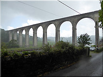 SX4368 : Calstock railway viaduct by John Lucas