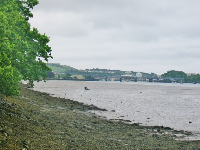 View downstream from Saltram Point on the River Plym