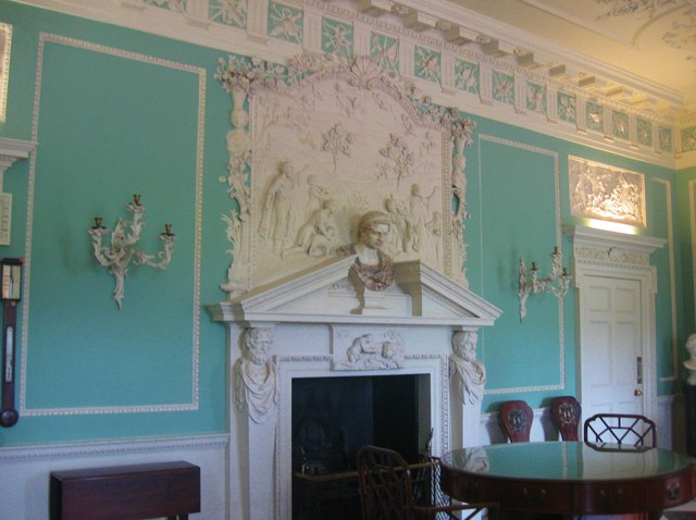 Fireplace in the Saloon at Saltram House
