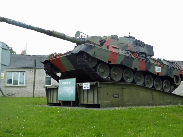 Leopard MK1 Tank at the entrance gate to Merrion Camp