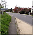 SP1038 : Worcestershire boundary sign near Willersey by Jaggery