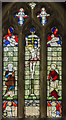 TF3666 : Stained glass window, St Michael and All Angels church, Mavis Enderby by Julian P Guffogg