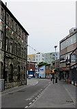 SS9079 : Queen Street in Bridgend town centre by Jaggery