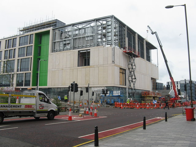 Dundee Street and the new Boroughmuir High School