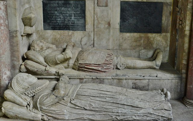 Hanwell, St. Peter's Church: Sir Anthony (d.1614) and Lady Cope memorial 1