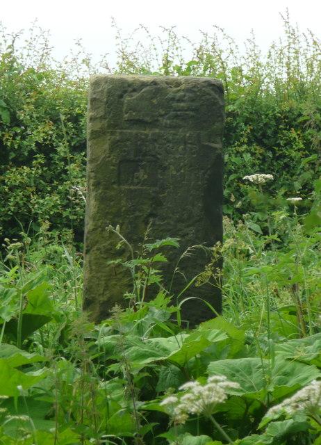 Back of milestone, Milner Lane, Scarcroft