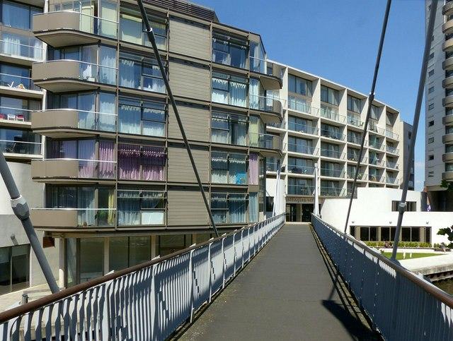 Footbridge at Nottingham One