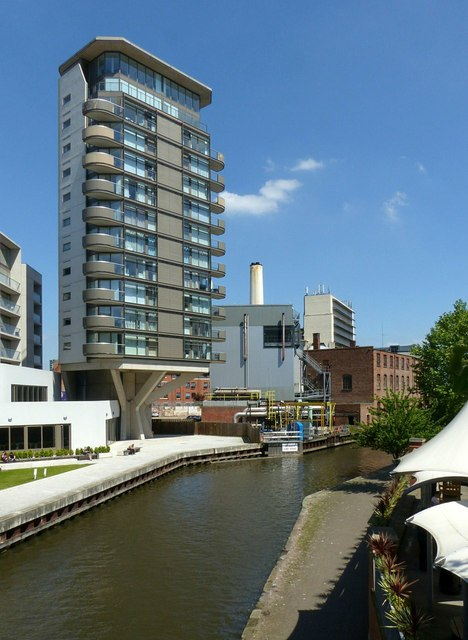 Nottingham Canal with Nottingham one tower