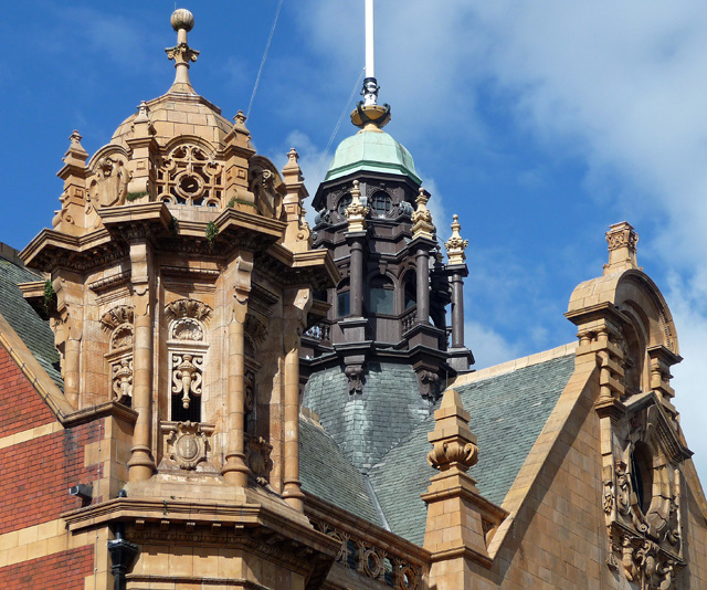 Detail of Town Hall, St Owen's Street, Hereford