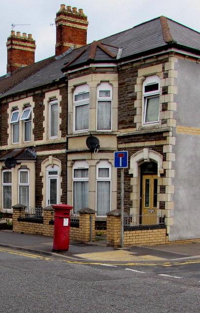 Victorian pillarbox on a Cardiff corner
