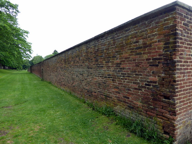 Wall of Walled Garden, Gibside