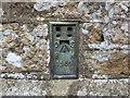 SW4231 : Ordnance Survey Flush Bracket 1569 by Peter Wood