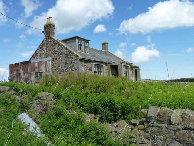 Abandoned farm cottage