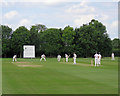 TL4257 : Local cricket at Queens' College Ground by John Sutton