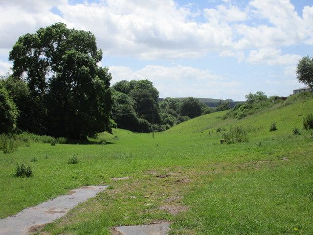 Valley below Abenhall church