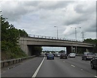 TQ0481 : B470 (Iver Lane) bridge over M25 by David Smith