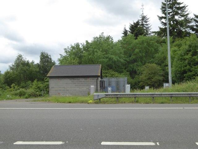 Motorway equipment store under junction 16 of M25