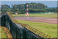 SU1498 : RAF Fairford perimeter fence by Ian Capper