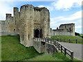 NU2405 : Entrance to Warkworth Castle by PAUL FARMER